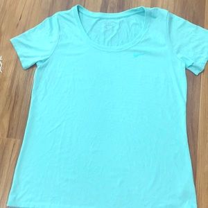 Nike Dri Fit Large Aqua Shirt